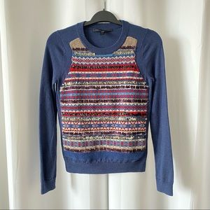 Marc By Marc Jacobs 100% Wool Sequin Sweater